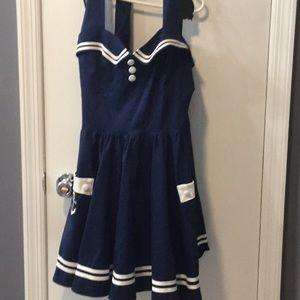 Nautical Pin-Up Dress